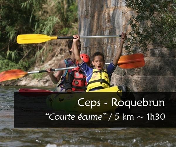 Parcours canoe kayak Orb : Ceps Roquebrun