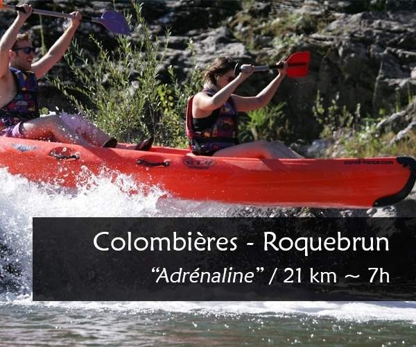 Location canoe kayak Orb : Colombières Roquebrun