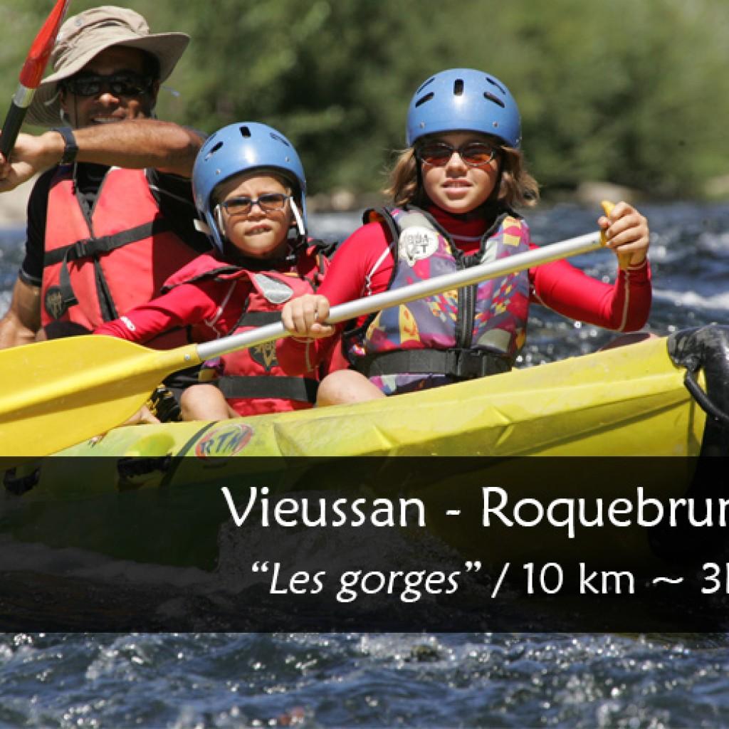 Parcours canoe kayak Orb : Vieussan Roquebrun